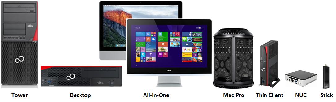 Desktop Bauformen